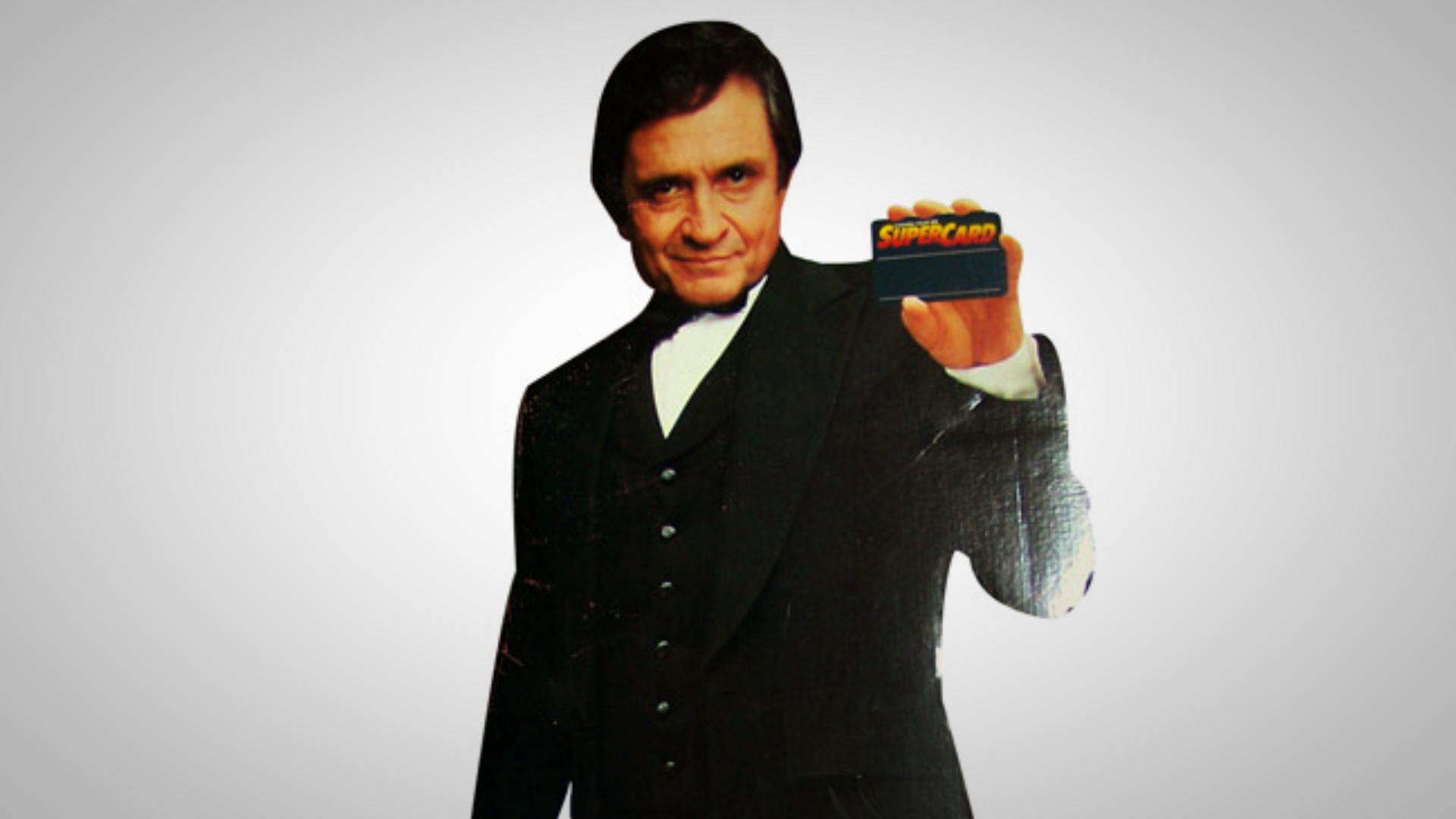 "7. Johnny Cash does ""Money Machine"" TV spots for Canada Trust"